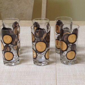 Vintage set of 6 Libbey textured tumblers